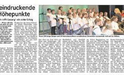 Blech trifft Gesang ein voller Erfolg / Presseberichte